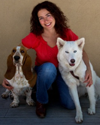 Alecia with dogs